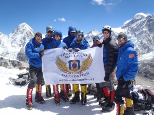 Team on top of Lobuche, honoring our Combat Rescue heroes