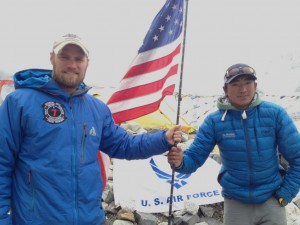 SSgt Nick Gibson and Mingma Tenzing II. 