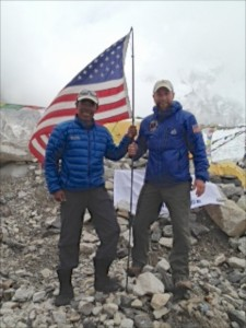Maj Rob Marshall and Dawa Sherpa.