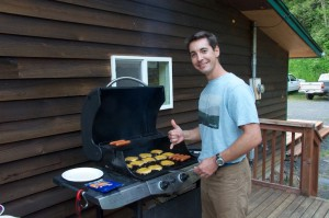 Burgers are up!  Rob, our ER doc from Boise, ID
