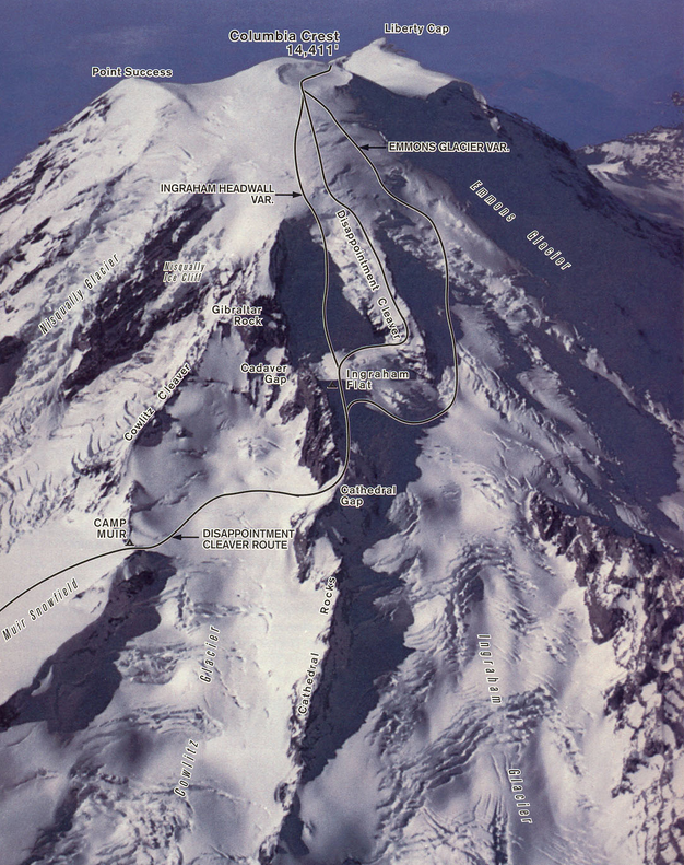 Disappointment Cleaver route on Mount Rainier