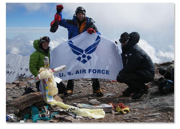 USAF Seven Summits Challenge - Peak of Mt. Aconcagua in South America