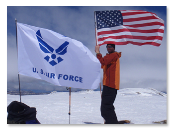 USAF 7 Summits Challenge - Photo from one of 7 Summit climbs
