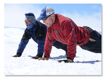 USAF Seven Summits Challenge - Photo of 2 Airmen doing Pushups