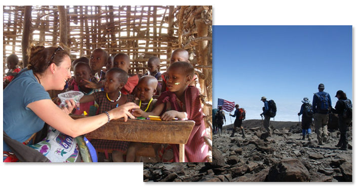 USAF Seven Summits Challenge - Hiking to the Base of Mt. Kilimanjaro and Visiting a Massai School