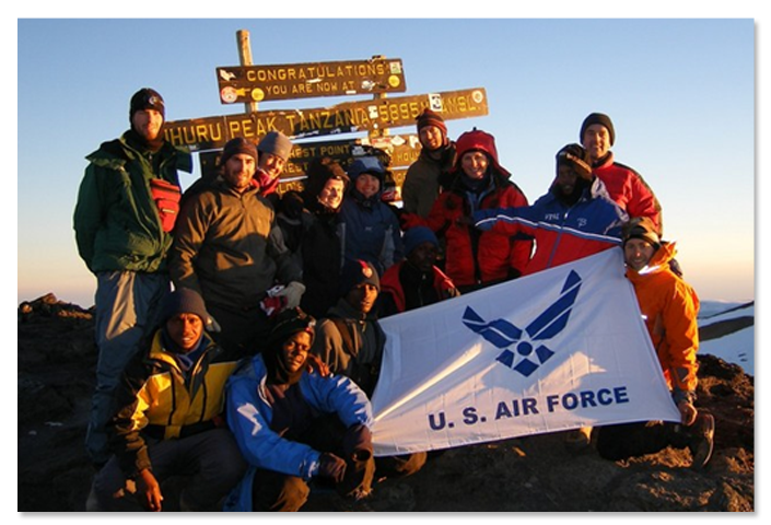 USAF Seven Summits Challenge - Photo on Mt. Kilimanjaro