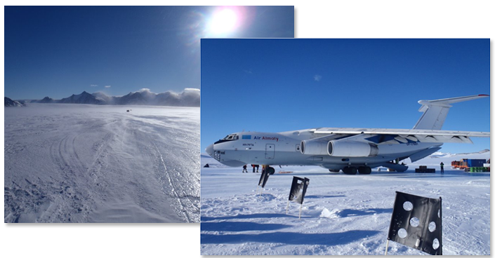 USAF Seven Summits Challenge - Aircraft in Antartica