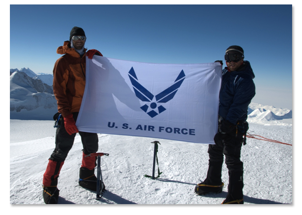 USAF Seven Summits Challenge - Standing on top of Mt. Vinson in Antarctica